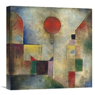 Global Gallery Paul Klee Red balloon Stretched Canvas Artwork