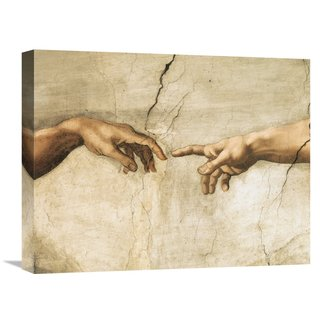 Global Gallery Michelangelo Creation of Adam (detail) Stretched Canvas Artwork
