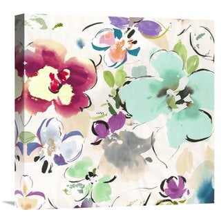 Global Gallery Kelly Parr �Floral Funk II� Stretched Canvas Artwork