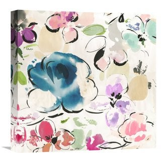 Global Gallery Kelly Parr �Floral Funk I� Stretched Canvas Artwork