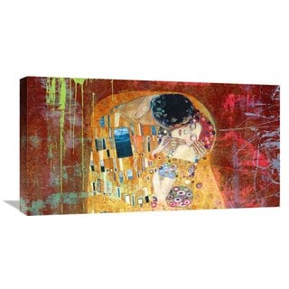 Global Gallery Eric Chestier 'Klimt's Kiss 2.0 (detail)' Stretched Canvas Artwork