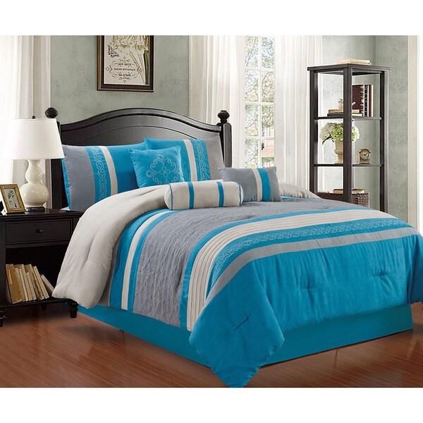 Max 7 Pice Micro Suede Comforter Set