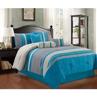 Max 7 Pice Micro Suede Comforter Set