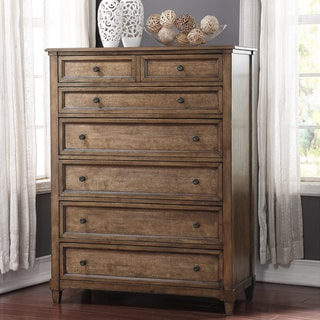 ABBYSON LIVING Cypress Weathered Oak 7 Drawer Chest