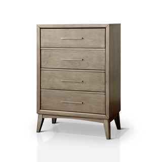 Furniture of America Meric Mid-century Modern Grey 4-drawer Chest