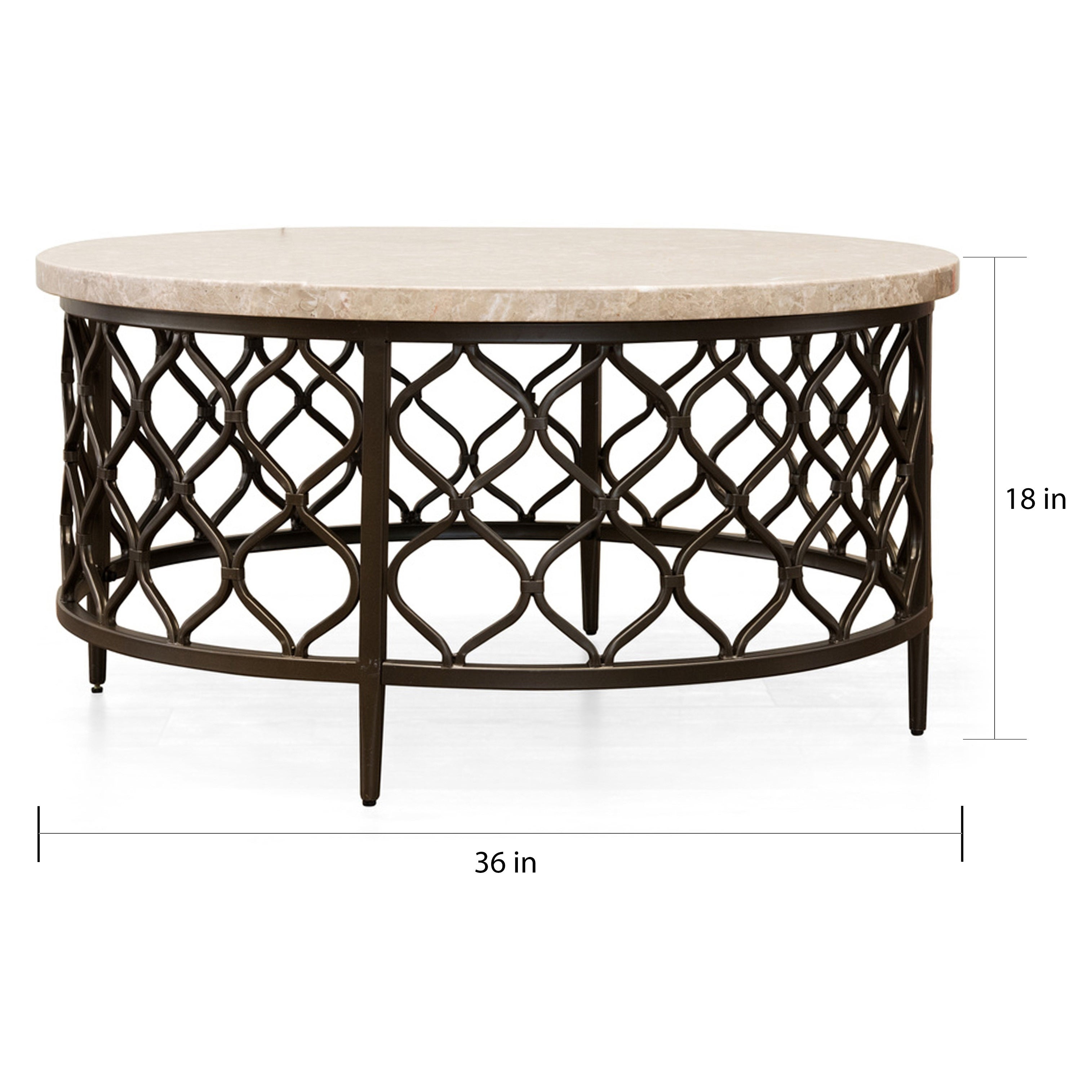 Round Coffee Table With Stone Top 10