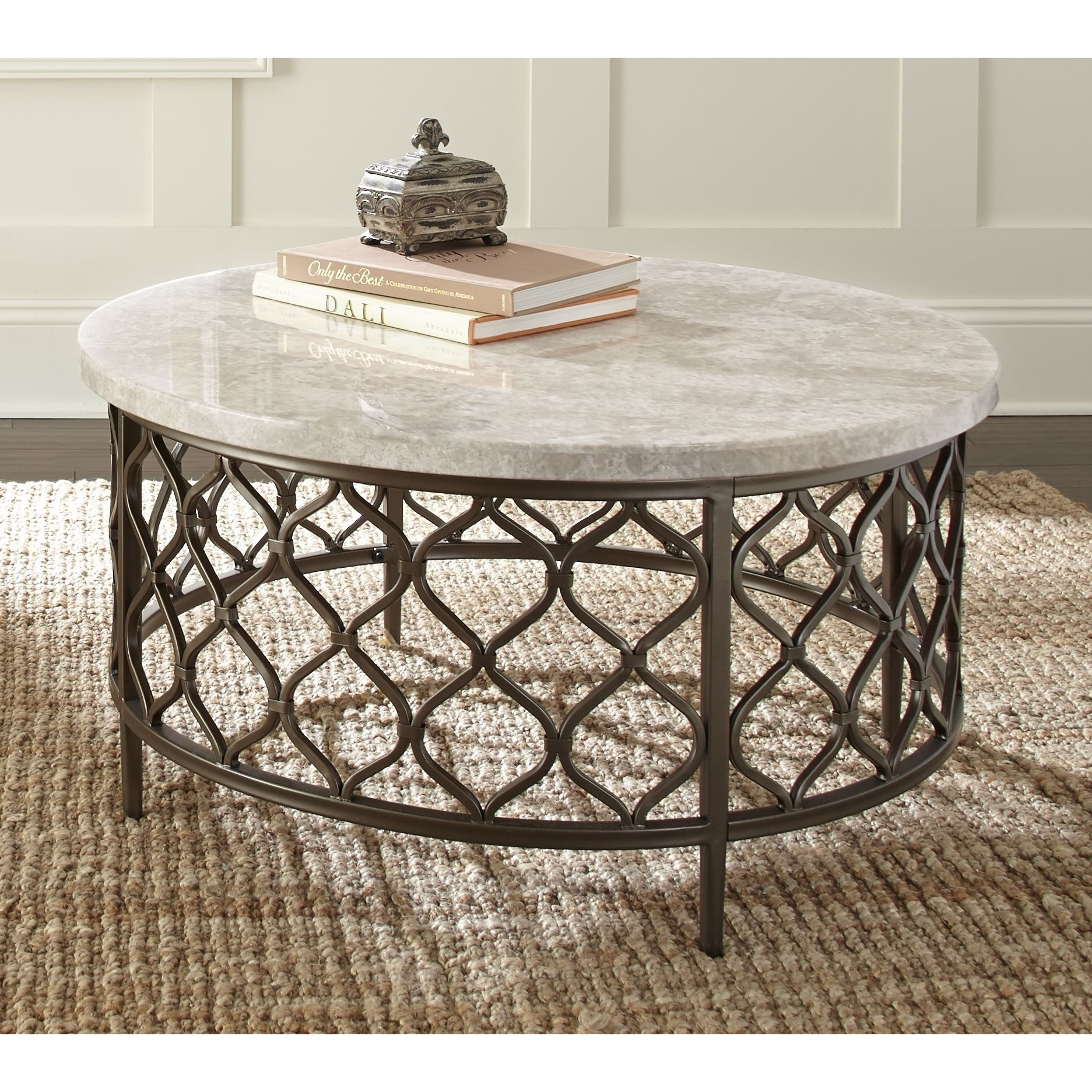 Round Coffee Table Metal 9