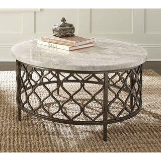 Rockvale Stone Top Round Coffee Table by Greyson Living