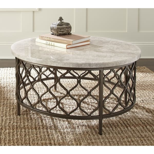 Round Coffee Table With Stone Top 4