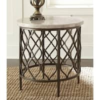 Rockvale Stone Top Round End Table by Greyson Living