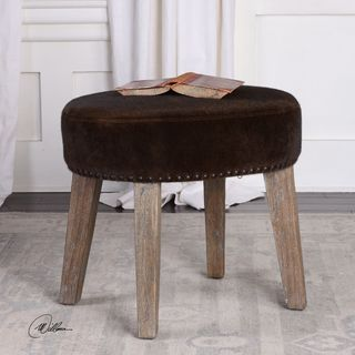 Uttermost Caballot Chocolate Small Stool