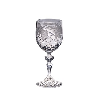 Majestic Gifts 7-ounce Hand-cut Crystal White Wine Goblet (Pack of 4)