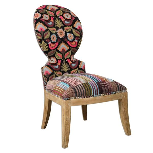 Swell Shop Uttermost Cruzita Patterned Armless Chair Free Cjindustries Chair Design For Home Cjindustriesco