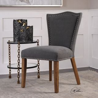 Uttermost Ruhls Gray Armless Chair