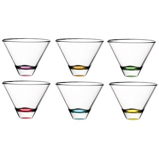 Majestic Gifts Clear Cocktal Drinking Glasses (Set of 6)