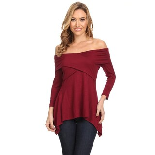 Women's Solid Wrapped Bodice Tunic (3 options available)