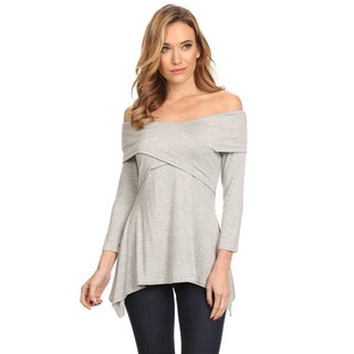 Women's Solid Wrapped Bodice Tunic (More options available)
