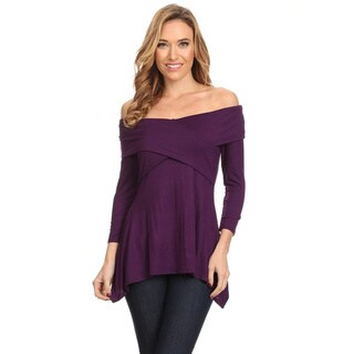 Women's Solid Wrapped Bodice Tunic