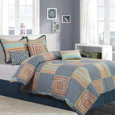 Grand Avenue Bluebell 7 Piece Reversible Comforter Set