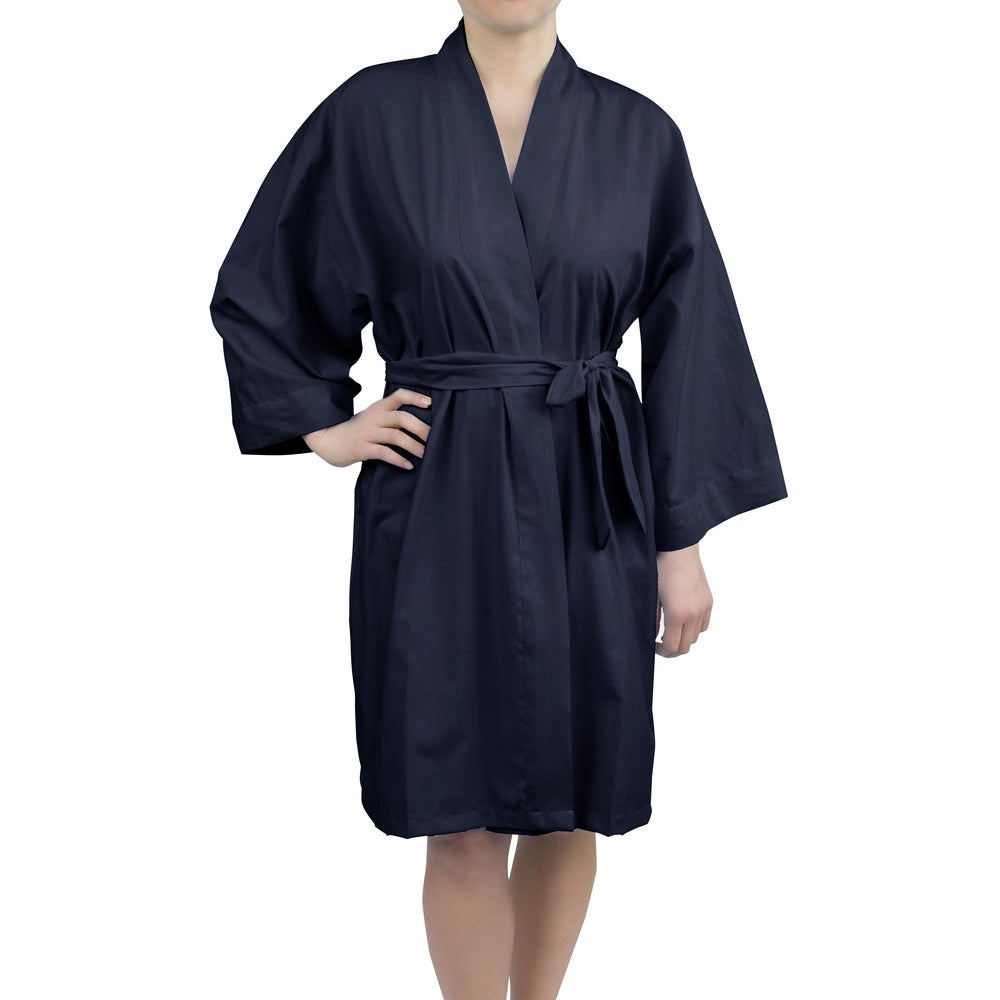 Leisureland Womens Cotton Woven 36-inch Kimono Robe