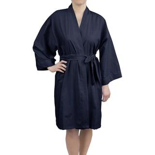 Leisureland Women's Cotton Woven 36-inch Kimono Robe