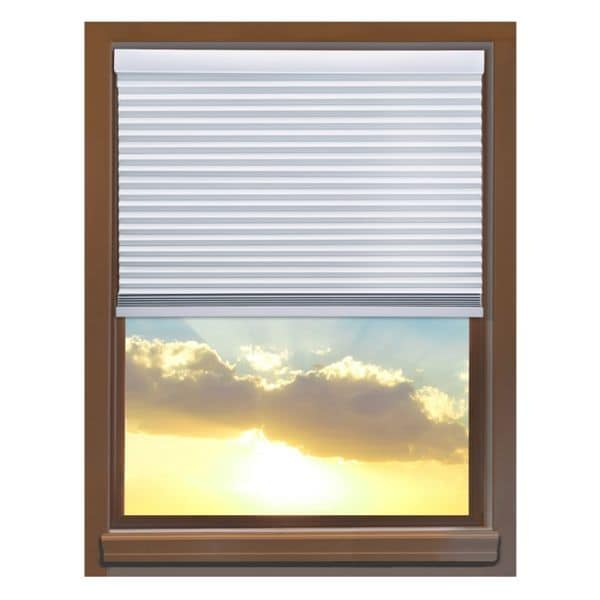 Linen Avenue Custom Cordless 70 to 71-inch Wide Crystal Blackout Cellular Window Shade