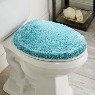 large toilet seat covers. Mohawk Home Spa Toliet Lid Cover  Bath Rugs Mats For Less Overstock com