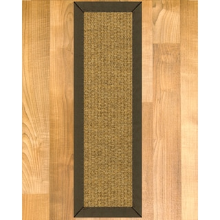 "Handcrafted Nagoya Sisal Carpet Stair Treads - Malt 9"" x 29"" (Set of 13)"