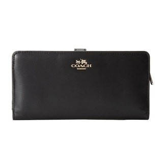 COACH Madison Leather Skinny Black Wallet