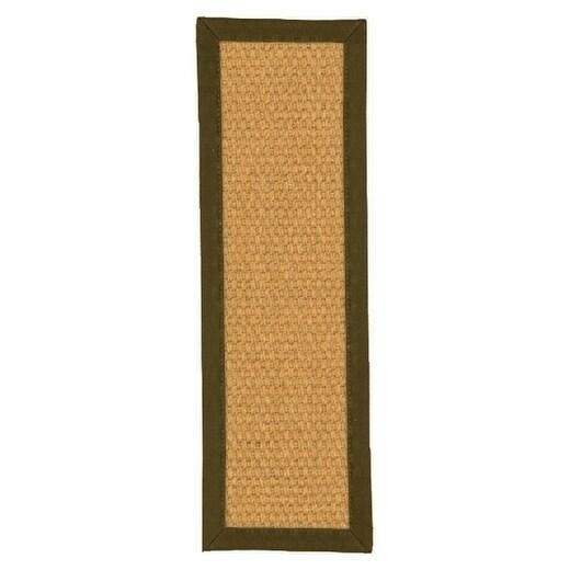 "Handcrafted Rio Sisal Carpet Stair Treads - Malt (Set of 13) - 9""x 29"""