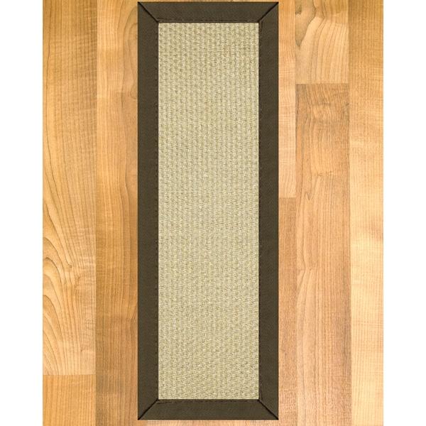 "Handcrafted Rio Sisal Carpet Stair Treads - Malt 9"" x 29"" (Set of 13)"