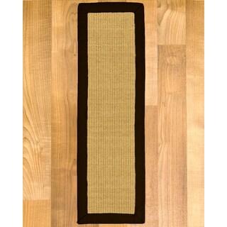"Handcrafted Barbados Sisal Carpet Stair Treads - Fudge 9"" x 29"" (Set of 13)"