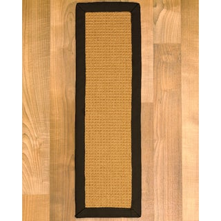 """Handcrafted Heavy Boucle Sisal Carpet Stair Treads - Fudge 9"""" x 29"""" (Set of 13)"""