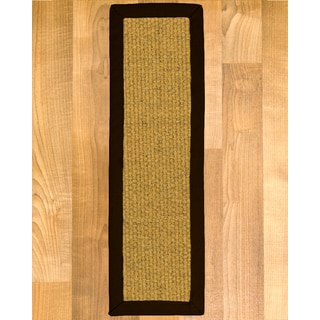 "Handcrafted Niagara Sisal Carpet Stair Treads - Fudge 9"" x 29"" (Set of 13)"