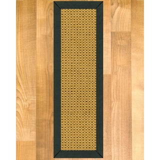 "Handcrafted Dubai Sisal Carpet Stair Treads - Fudge 9"" x 29"" (Set of 13)"