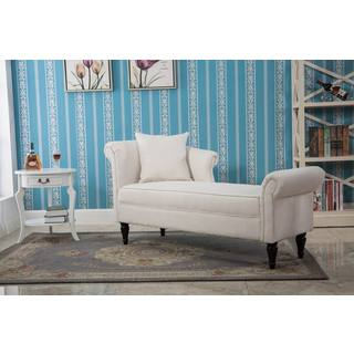 Hobine White Chaise Lounge