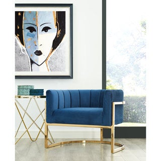 Link to Magnolia Navy Chair with Gold Base Similar Items in Accent Chairs