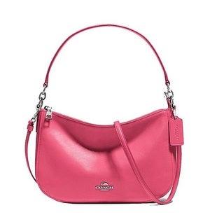 Coach Chelsea Leather Silver/Dahlia Crossbody Handbag