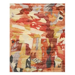 Hand-tufted Wool & Viscose Contemporary Abstract Bamboo Picaso Rug (8'9 x 11'9)