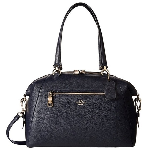 Shop Coach Pebbled Leather Large Prairie Light Gold Navy