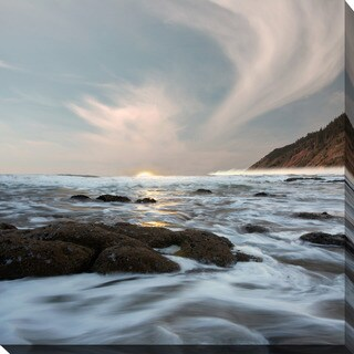 """Serene Seascape"" Giclee Print Canvas Wall Art"