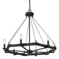 Black Iron 6-light Chandelier