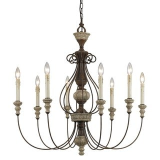 Williams Oxidized Metal and Resin 8-light Chandelier