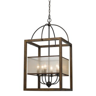 6-light 60-watt Rectangular Chandelier