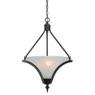 Rockwood Bronze Iron 3-light 60-watt Pendant Light