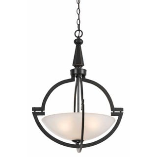 Oil Rubbed Bronze Finish Half Moon Shade 3-light Pendant Chandelier