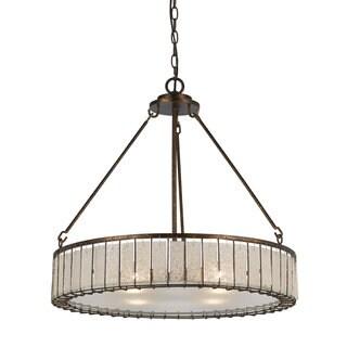 4-light Ferrara Metal, Glass Chandelier