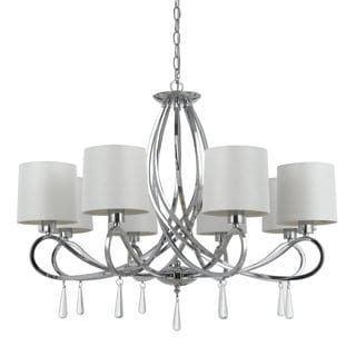 Bolsena Chrome Finish Metal Glass 8-light Chandelier