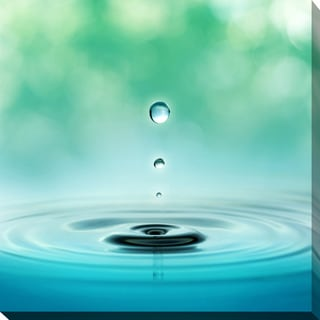 """""""Water Droplet"""" Giclee Print Canvas Wall Art"""