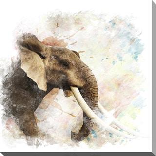 """Elephant"" Giclee Print Canvas Wall Art"